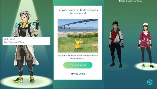 pokemon go αρχικη οθονη καθηγητης willow